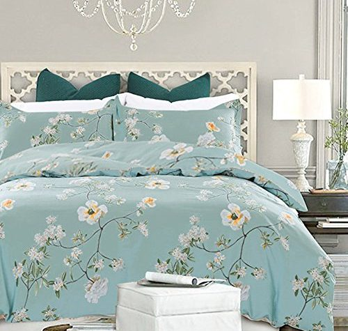 Nanko Bedding Duvet Cover Set Queen 3 Pieces 800 Thread