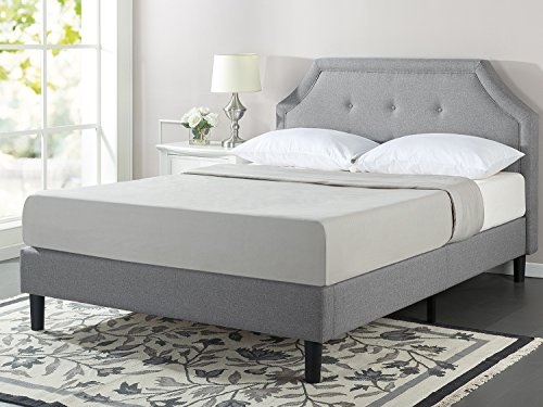 Zinus Lyon Upholstered Button Tufted Platform Bed With