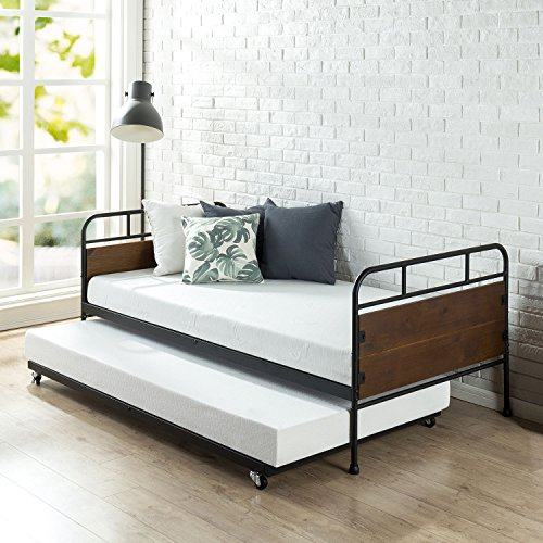 Zinus Santa Fe Twin Daybed And Trundle Frame Set Premium