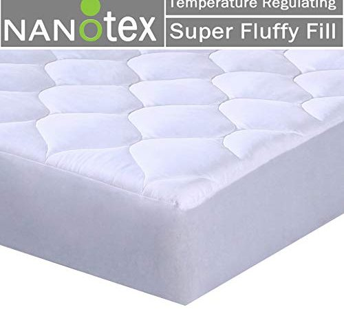 Mattress Pad Quilted Fitted Featuring Nanotex Coolest